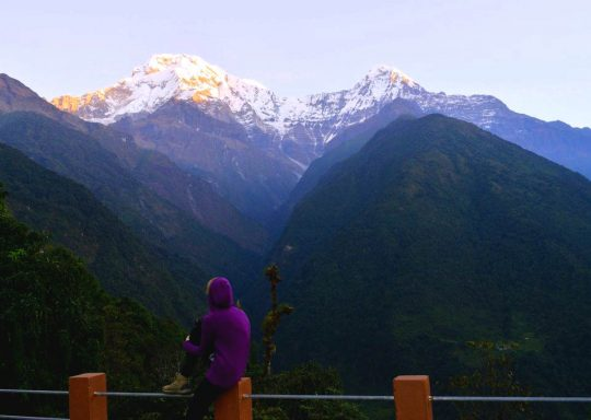 View of Annapurna from Ghandruk Village