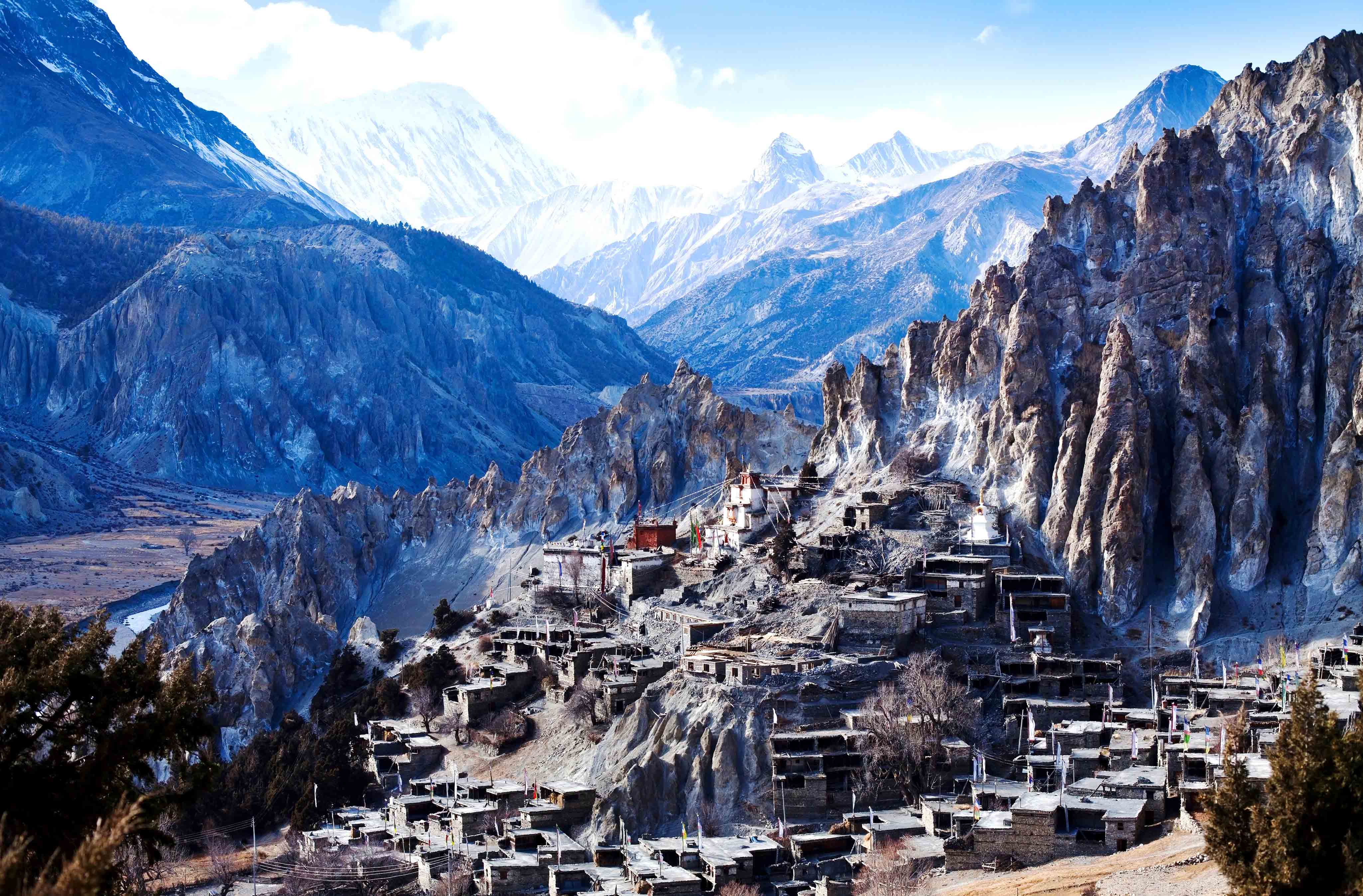 Manang-village-view